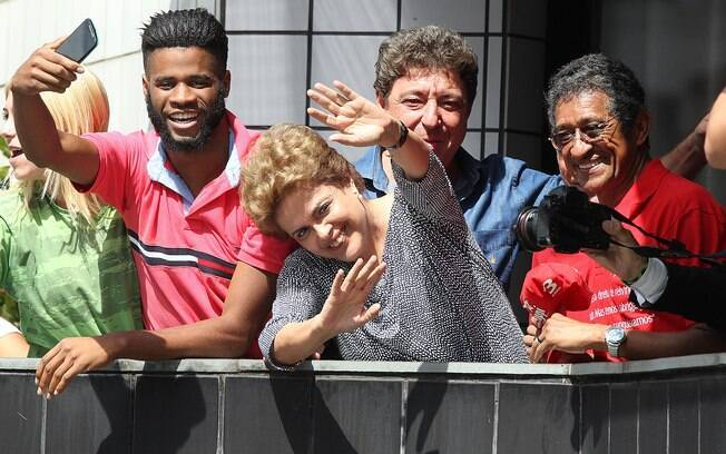 Presidente Dilma Rousseff é vista durante visita ao ex-presidente Luiz Inácio Lula da Silva, em São Bernardo do Campo, na Grande São Paulo