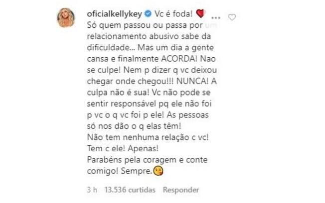 comentário da Kelly Key