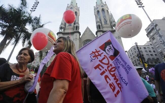 CUT e movimentos realizam um ato contra o processo de impeachment, na quinta-feira (31)