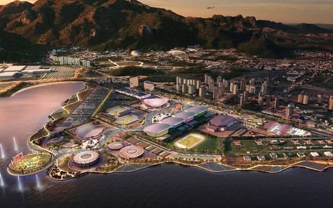 Projeto do parque olímpico para as Olimpíadas  do Rio 2016