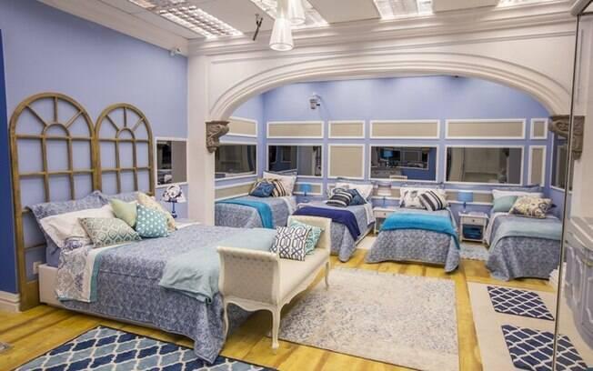 O quarto azul é mais relax