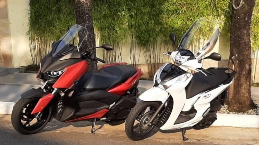 As maiores diferenças entre Honda SH 300i e Yamaha XMax, no entanto, estão na ciclística e na posição de pilotagem