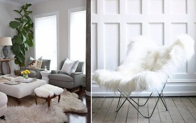 Tapetes e cadeiras feitas com esse tipo de material deixam os ambientes apropriados para o friozinho