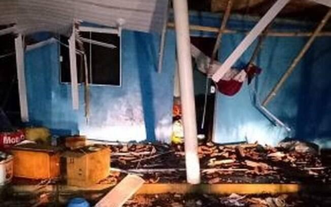 Tornado destruiu casas em Santa Catarina