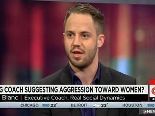 Julien Blanc durante a entrevista para a CNN