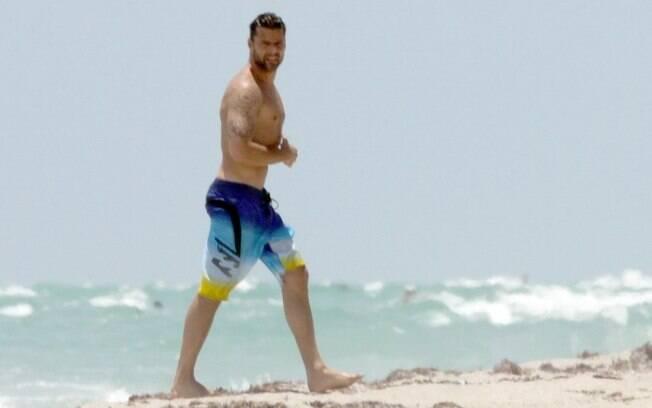 Ricky Martin de férias em Miami