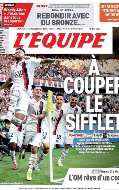 Neymar foi destaque no L'Equipe