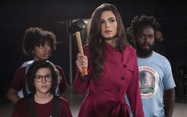 Emanuelle Araújo em cena de Samantha!, cuja segunda temporada estreia nesta sexta-feira (19) na Netflix