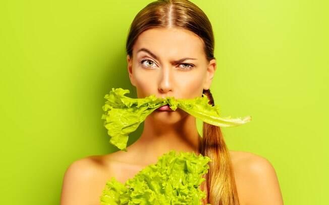 Sim, até salada pode ser um problema, dependendo da porção