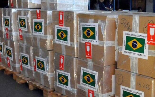 Ajuda humanitária enviada para a Síria em 2017; carregamento levou medicamentos