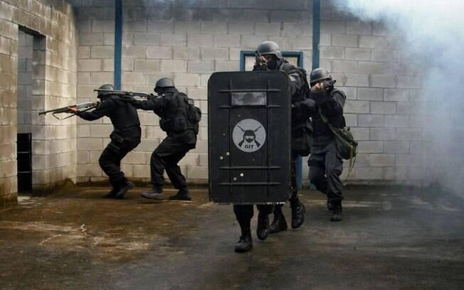 Para conter rebelião com reféns, Grupo de Intervenção Tática da Secretaria de Administração Penitenciária foi acionado