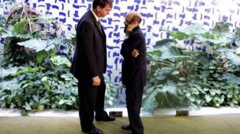 Jair Bolsonaro, então deputado federal, e Enéas Carneiro