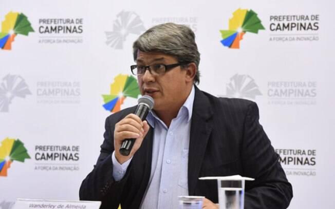 Secretário de Relações Institucionais, Wanderley de Almeida substituiu Jonas Donizette no pronunciamento desta quinta-feira.