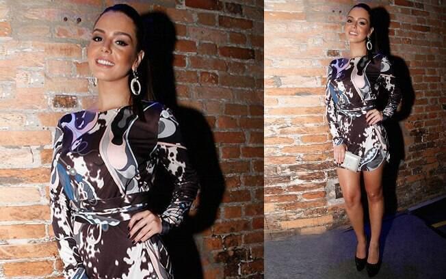 Giovanna Lancellotti usou mini da Pucci na festa da novela 'Alto Astral'