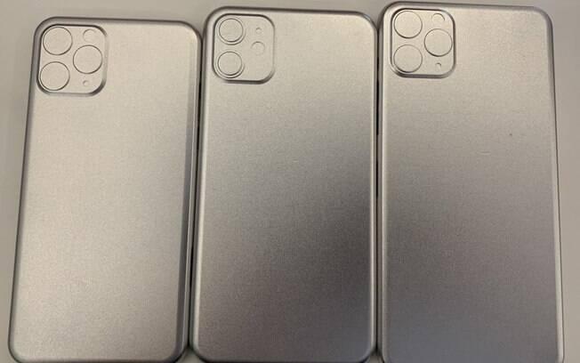 O novo iPhone deve ganhar uma moldura quadrada em volta da câmera, que também terá uma terceira lente