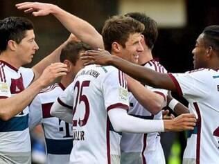 O time da Bavária só engatou com o primeiro gol, aos 24 minutos