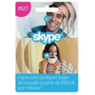 Cartão Skype será vendido por R$ 27 em lojas de todo o Brasil