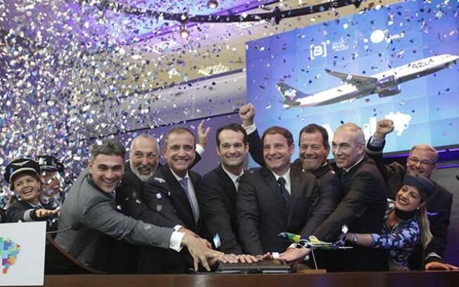 Azul celebra negociação de ações em cerimônia na Bovespa