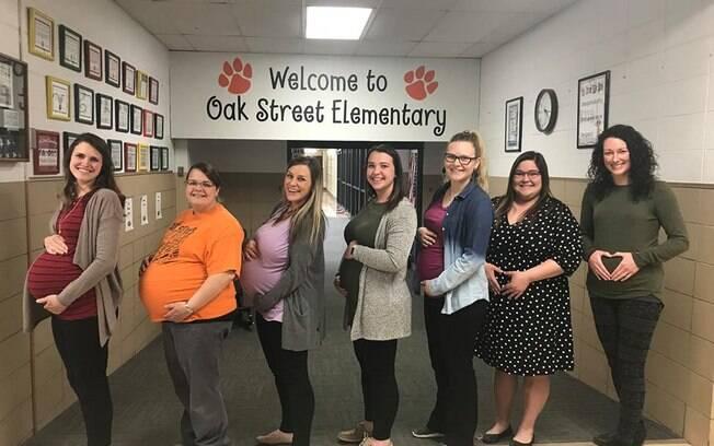 Sete professoras que somam metade do corpo docente de um colégio ficaram grávidas ao mesmo tempo
