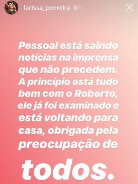 Larissa Pereira, mulher de Roberto Firmino, tranquilizou os torcedores