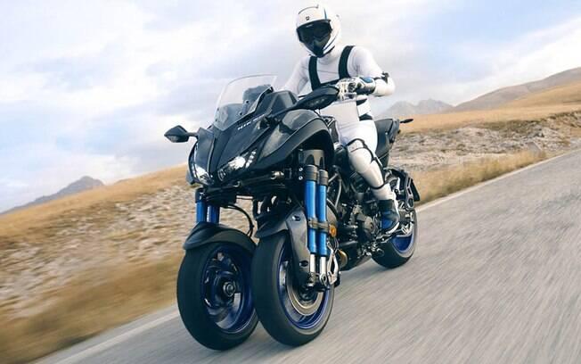Yamaha Niken Concept: Três rodas da Yamaha também tem proposta esportiva, mas desta vez, é baseada em uma naked