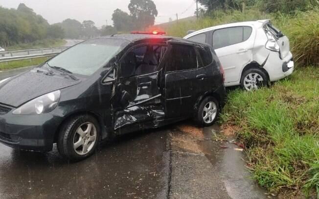 Sequência de acidentes na João Beira deixa três feridos em Jaguariúna