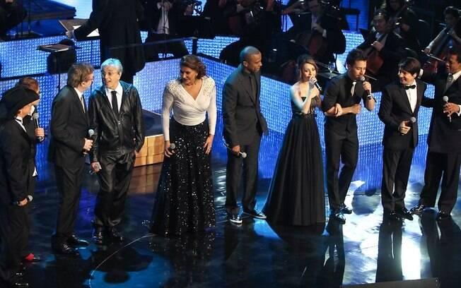 O show contou com participações especiais como Caetano Veloso e Fábio Jr.