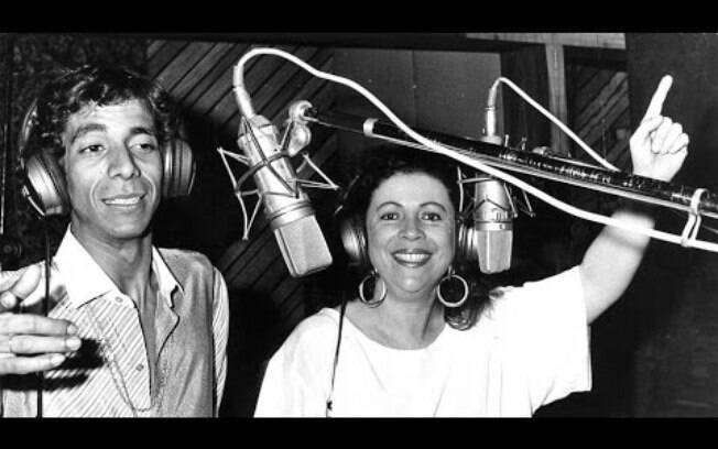 Beth Carvalho e Zeca Pagodinho em estúdio