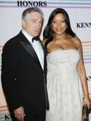 O ator Robert de Niro e a mulher, Grace Hightower