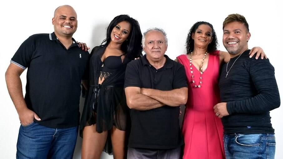 Fábio Assis, Joy Maria, José Domingos, Mary Alice Alcantara e Benny Santos