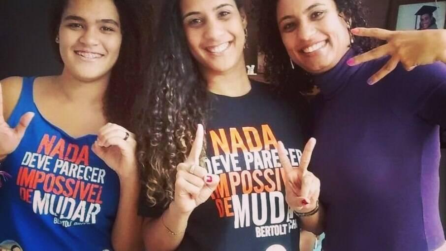 Anielle, filha de Marielle e Marielle em campanha política