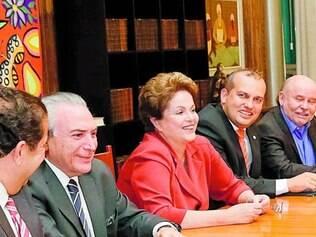 Conselho.Dilma se reuniu ontem com conselho político e com presidentes de partidos de sua aliança