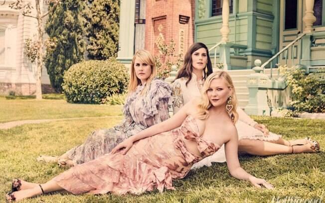 As melhores fotos de famosos de 2017: Kate Mulleavy, Kirsten Dunst e Laura Mulleavy. Foto: reprodução/Hollywood Reporter