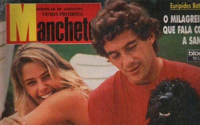 Adriane Galisteu foi uma das namoradas do piloto de F-1 Ayrton Senna, morto em 1994. Foto: Reprodução/Revista Manchete