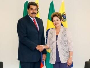 Presidente da Venezuela participou da cerimônia de posse de Dilma