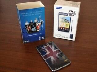 Foto publicada no Twitter mostra edição especial do Galaxy Note