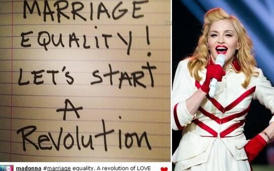 """""""Casamento igualitário. Vamos começar a revolução"""", pede Madonna - Home - iG"""