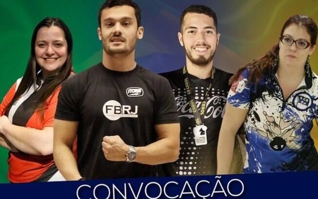 Convocados do Brasil para o boliche do Pan 2019