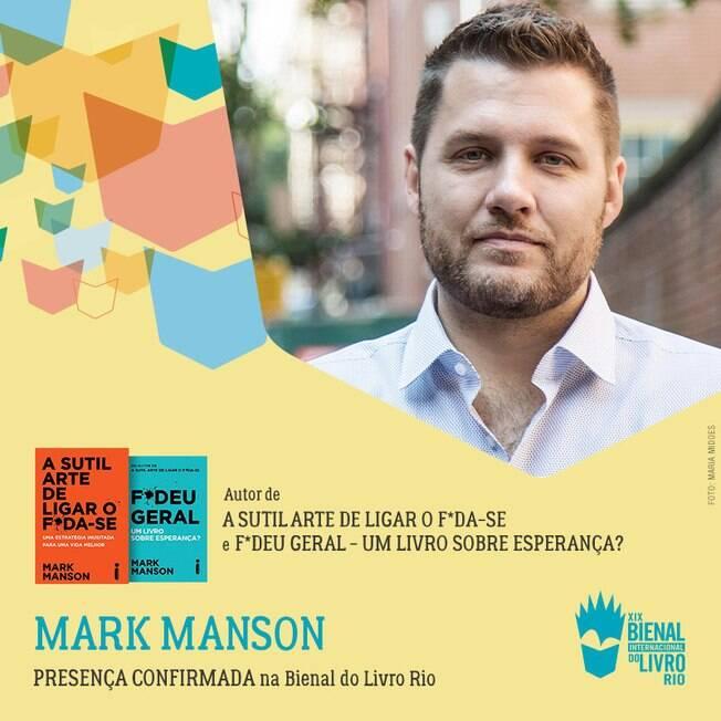 Mark Manson vem ao Brasil após seu livro ser grande sucesso de vendas