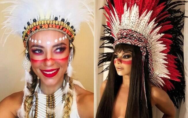 Paolla Oliveira e Viviane Araújo viram centro de polêmica com fantasias de índio no carnaval 2018
