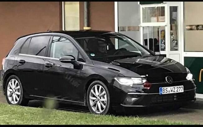 VW Golf: a silhueta preserva muitas características do modelo atual. Faróis ganham novo desenho exclusivo