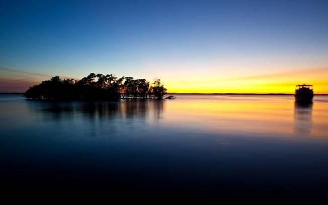 Conhecido por sua área alagada, no Everglades Park habitam crocodilos, tartarugas marinhas e diversos animais silvestres
