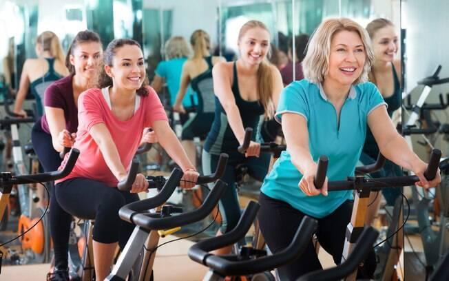exercícios em grupo