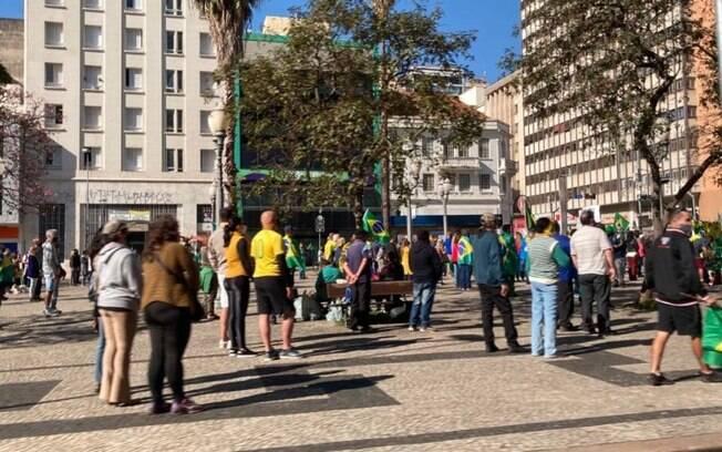 Grupo faz manifestação em Campinas a favor do voto impresso nas eleições