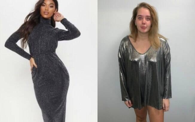 Mulher faz compras online para o Ano Novo e vestido chega completamente diferente da imagem do site