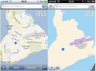 Antes e depois: troca do Google Maps por aplicativo da Apple piorou qualidade dos mapas no iPhone