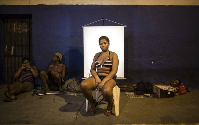 Valeria de Brito: usuária de crack há 8 anos, ela diz que não gosta dos ambientes das cracolândias