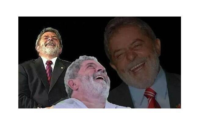 Montagem de Lula com a gargalhada inconfundível: ele sabia de tudo. Foto: Reprodução