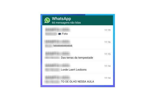 Coloque o Widget em sua tela inicial, ele mostrará as mensagem recebidas sem que você precise abrir o aplicativo