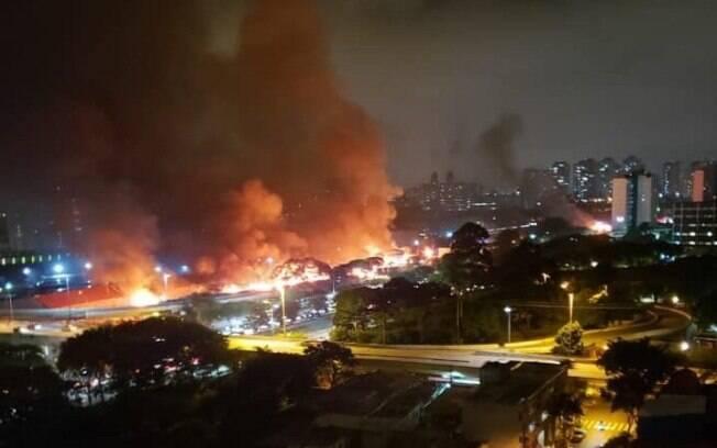 A área pública no entorno do Viaduto Bresser, na Mooca, estava ocupada pela Favela do Cimento há pelo menos cinco anos